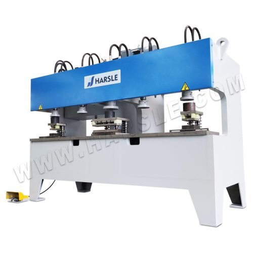 Multi head punching machine for steel door sheet and frame hole punch